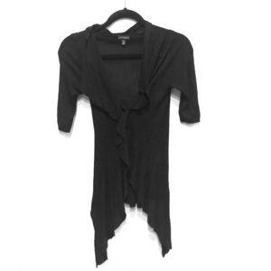 Black semi sheer cover up